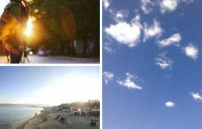 няколко градуса отгоре слънце придружено слаб западен вятър карта