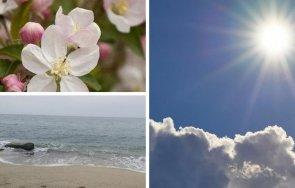 пролетно април идва повече слънце температури градуса карта