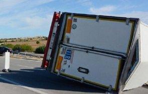 извънредно тежка катастрофа пътя бургас айтос тир премаза две коли