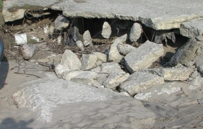 фекални води изливат плажа обзор