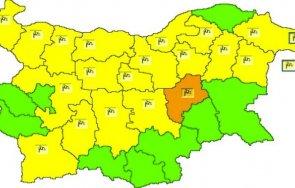 оранжев код силен вятър обявен област сливен жълт кодът области страната
