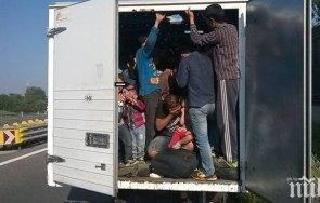 заловиха мигранти камиона българин румънско унгарската граница