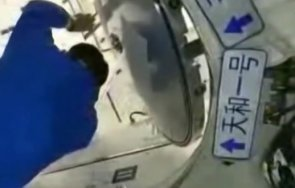 китайската космическа станция посрещна първите обитатели