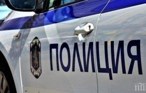 кола удари полицейска патрулка шофьорът офейка