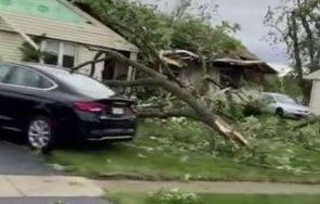 ранени разрушени къщи предградията чикаго заради торнадо