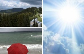 усещане лято предимно слънчево топло обяд повече облаци отделни места краткотрайни валежи гръмотевици карта