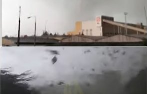 извънредно огромно торнадо вилня чехия 150 души пострадали видео