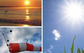 слънчево топло повече облаци следобедните часове жълт код силен вятър сила три области страната карти
