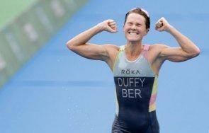 триатлонистка донесе първа олимпийска титла бермудските острови историята