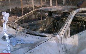 пожар изпепели автомобил няколко постройки благоевград