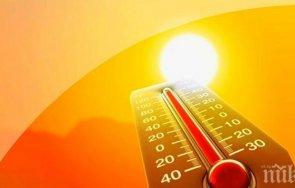 опасно време жълт код жеги цяла българия сряда карта