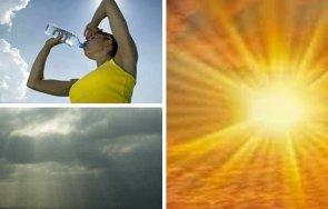 топ сутринта непоносима жега слънчево горещо време живакът удря градуса