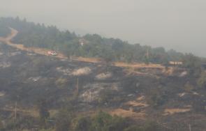 потушен пожарът долно село