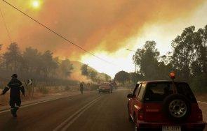 евакуираха пет села заради големия пожар пелопонес