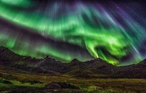 заснеха удивителното северно сияние мурманск видео