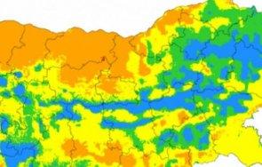 екстремален индекс пожароопасност сила територии три области страната