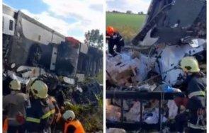 Тежко ранен е втори мъж от кабината на разбилия се ТИР