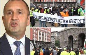 извънредно пик пътните строители блокират българия протести кабинета радев искат оставки министерски съвет снимки живо