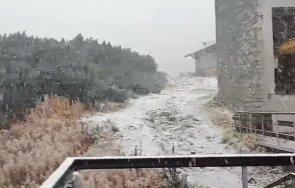 зимата пристигна ударно сняг падна пирин рила видео