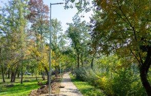 осветяват крайречната алея парка ямбол