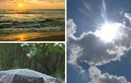 слънцето усмихва валежите спират температурите гонят градуса морето духа