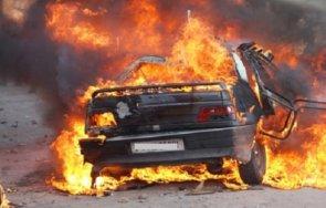 кола запали изгоря пътя две смолянски села