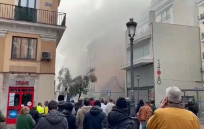 минути мощен взрив разтърси центъра мадрид снимки видео