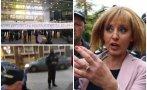 екшън манолова бяга тръс протестъри опитаха линчуват боклук мръсница каква тая кюстендилска баба видео