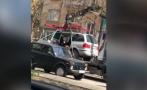 паяк вдигна кола дете плевен автомобилът бил затъмнени стъкла