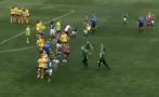 футболен трилър масов бой женски мач българия видео