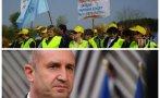 ГОРЕЩО В ПИК: Нови протести срещу Радев тресат България! Строители блокират пътища в Русе и Бургас