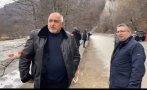 ПЪРВО В ПИК TV: Борисов на инспекция на разрушен път след наводненята - вече е пуснат след двудневната денонощна работа (ВИДЕО/ОБНОВЕНА)