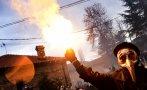 В Северна Македония издирват мъжа, запалил българското знаме